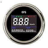 Dhmm123 Digital Motorrad 52mm Digital GPS Tachometer Kilometerzähler Kilometerzähler Einstellbare...