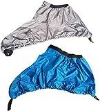 Missgrocery Universal Verstellbare Abdeckung für Kajak, Kanu, Cockpit, Grau, Blau, 2 Stück