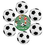 ZAWTR Kickerbälle 32 mm, 6 Stück Tischfußball Bälle Klein Mini Tischkicker Fußball Ball, Kicker...