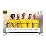 CHiQ U58H7A Smart TV 147 cm (58 Zoll Fernseher) Android 9.0, Smart TV,LED TV, UHD, WiFi, Bluetooth,...