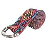 GLANGYU Yoga Belt Color Trainings Seil Gedruckt Adjustable Yoga Gürtel Waschbar Yoga Elastischer...