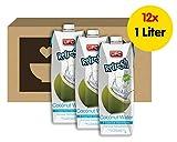 UFC Reines Kokoswasser 100% Pure Kokosnusswasser Thailand 1 Liter Coconut Water 12er Pack