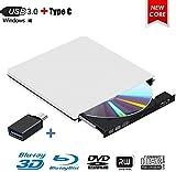 Externes Blu Ray DVD Laufwerk,MingBin Externe 3D Blu Ray DVD Brenner,USB 3.0 Tragbare Ultra Slim...
