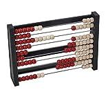 LINEX 400065132 Abakus mit 100 Perlen Rechenrahmen Zählrahmen aus Holz spielerische Rechenhilfe ab...