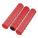 50 Magnete Rot Ø 24 mm   Haftmagnete   Rund   Whiteboard - Kühlschrank - Magnettafel - Magnet -...