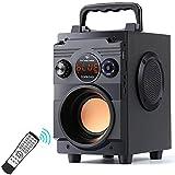 Alaman Bluetooth-Lautsprecher Tragbarer drahtloser Stereo-Subwoofer Bass Große Lautsprecher...