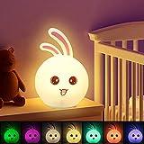LED Nachtlicht für Kinder, CNSUNWAY LIGHTING Nachtlicht Kind USB Wiederaufladbare Silikon Baby...