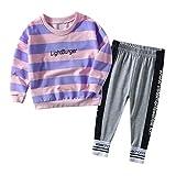 Heetey Neugeborenes Baby Girs Brief drucken mit Kapuze Tops + Sterne Print Hosen Outfits Sets...