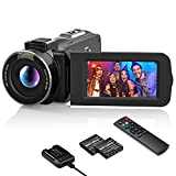 Videokamera 1080P Wlan, MELCAM Vlogging Kamera FHD 30FPS 36MP für YouTube, Streaming-Video...