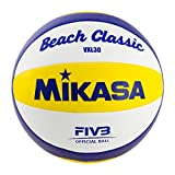 Mikasa Unisex– Erwachsene Ball Beach Classic VXL 30, Weiß/Blau/Gelb, 5
