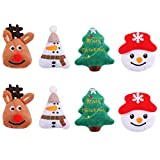 TOYANDONA 8 Stücke Weihnachten Patch Sticker Rentier Weihnachtsbaum Schneemann Stickerei Patches...
