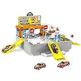wangxike Parkgarage für Kinder, Parkhaus Spielzeug mit 2 Ebenen und Zubehör Spielgarage Geschenk...