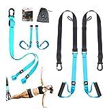 RHINOSPORT Schlingentrainer Very Good Sling Trainer Set Better mit Türanker Einstellbar Fitness...