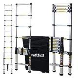Craftfull Aluminium Teleskopleiter - Tragetasche - 2/2,6/2,9/3,2/3,8/4,1/4,4 Meter - Alu Leiter...