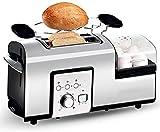 YXZQ Brotbackautomat Toaster aus Edelstahl mit 2 Scheiben Sandwich Brotbackautomat Brotbackautomat...