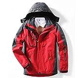 BEYONDTIME Herren Jacke Outdoor-Jacke Plus Samt Warme Jacke Abnehmbare Winddichtes Berg Anzug B-6XL