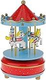 TZSYYH Hölzerne Spieluhr Rotating Karussell-Pferd Spieluhr Kid Musik-Spielzeug Spire Typ - Rot und...