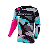 Uglyfrog Herren Mountainbike Jersey MX MTB DH Trikot Motocross Offroad DownL05