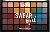 NYX Professional Makeup Swear By It Eye Shadow Palette, Warme und kalte Farbtöne, Matt, satiniert...
