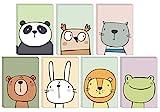 49 Ökofreundliche Tier Grußkarten ohne Text aus recyceltem Papier mit grünen recycelten...