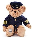 iddiaochan Plüschtier Bär Teddybär Uniform Kuscheltier Hellbraun Plüsch Teddybär Für Kinder...