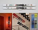 Clipboart® Standard Wandhalterung weiß für alle Ski horizontal vertikal diagonal Halterung...