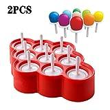 FXXJ 2 PCS Ice Pop Mold Silikon-Pop, Hersteller BPA frei Popsicle-Formen Großküchenwerkzeug für...