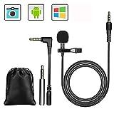 GeekerChip Lavalier Mikrofon,Mikrofon für Smartphone und PC,für...
