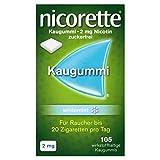 NICORETTE Kaugummi 2mg whitemint – Nikotinkaugummi zur Raucherentwöhnung – Zahnweißeffekt –...