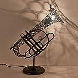 Industrielle Retro Tischlampe Vintage Saxophon Schreibtischlampe Edison Lampensockel Antikes...