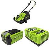 Greenworks 40V Akku-Vertikutierer GD40SC36 + G40B25 Batterie, 40V 2.5Ah GEN 2 / 1000W +...