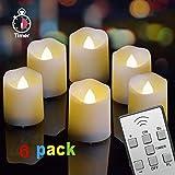 Freepower LED Flammenlose Teelichter, Flackern Kerzen, Elektrische Kerze Lichter Fernbedienung mit...