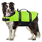 Hundeschwimmweste Schwimmweste Hund Schwimmtraining Mit Polsterung Mit Griff Dog Vest Lifejacket...