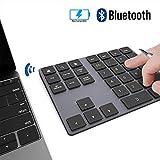 Ziffernblock JOYEKY Nummernblock Bluetooth/ Numpad Wireless mit Multi-Funktion, Aluminium 34 Tasten,...