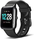 LETSCOM Smartwatch, Fitness Tracker 1,3 Zoll Farbdisplay Uhr mit Herzfrequenzmesser Schrittzähler...