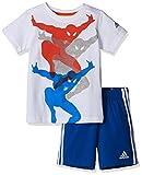 adidas Spiderman Baby Shirt und Short im Set für Kinder, Kinder Größen:92