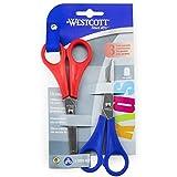 Westcott Kinderschere für Rechtshänder, 13 cm, Rot/Blau, 2 Stück