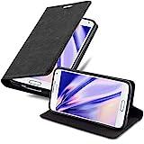 Cadorabo Hülle für Samsung Galaxy S5 / S5 NEO in Nacht SCHWARZ - Handyhülle mit Magnetverschluss,...