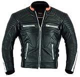 Apex Motorrad Leder Schutzjacke gepolstert, M