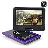 IWQTO 2020-Upgrade 9.0' Tragbarer DVD-Player mit 270 ° drehbarem Bildschirm, SD-Karte und...
