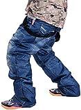 GoodLuckShop Denim Hosenträger Ski Jeans Wasserdicht Atmungsaktiv Warm Skifahren Snowboard Hosen...