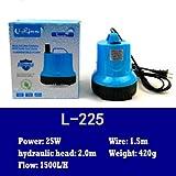 Masun Wasserdichte Tauchpumpe für Aquarien, 25 W/40 W/55 W, 25 W, 1