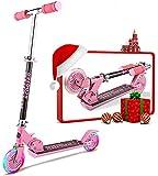 Oppikle Scooter Kinder Roller Tretroller Cityroller Kick Scooter Klappbar Mit Led Big Wheel...