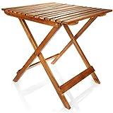 com-four® Premium Klapptisch aus Holz - Holztisch für Garten, Terrasse und Balkon - Klappbarer...