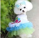 XGQ Hunde-Bekleidung Kleid-Spitze-Prinzessin Chihuahua Hundekleidung, Größe: L (Pink) (Color :...