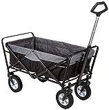 EASYmaxx Bollerwagen faltbar mit Reifen für Vatertag, einkaufen, klappbar, Transportwagen ohne Dach...