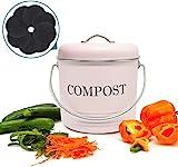 Jolitac Küche Kompost Eimer 5L Komposteimer Kompostbehälter Bio Mülleimer Kücheneimer...