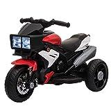 HOMCOM Elektrofahrzeug Kindermotorrad Kinderfahrzeug mit Musik und Beleuchtung Elektro-Dreirad mit...