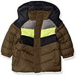 iXtreme Baby-Jungen Colorblock Puffer Gesteppte Jacke, wald, 24M US