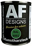 Alex Flittner Designs 1 Liter Kunstharz Lack Buntlack Kunstharzlack RAL6002 LAUBGRUEN glnzend
